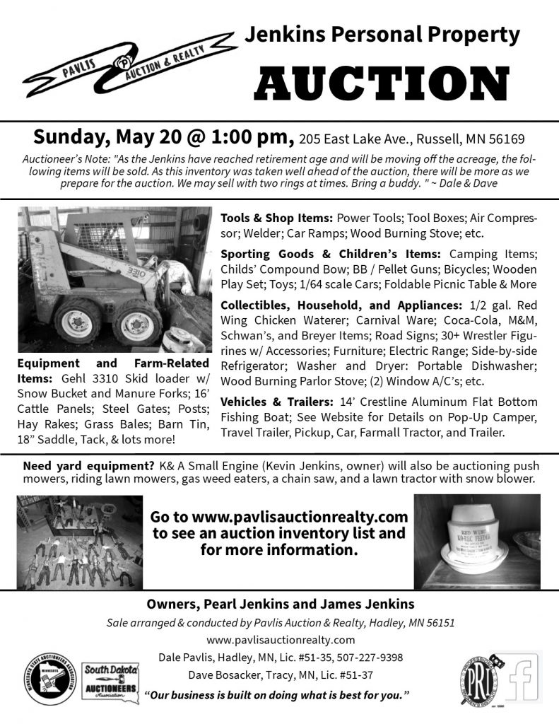 2018-05-20 Jenkins Auction Flyer